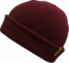 Basic Muts Bordeaux Rood - Rode Beanie - Wakefield Headwear - Mutsen