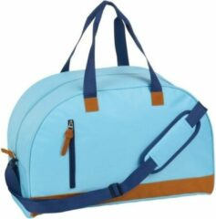 Merkloos / Sans marque Sporttas/reistas lichtblauw met kunstleer 50 cm - Weekendtassen - Voetbaltassen 40 liter
