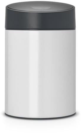 Afbeelding van Brabantia Slide Bin wandafvalemmer, 5 liter, kunststof binnenemmer - White