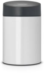 Witte Brabantia Slide Bin Prullenbak - 5 l - White met Grey