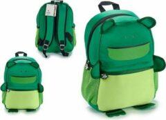 Groene Pincello Kinderrugzak/Schoolrugzak Kikker
