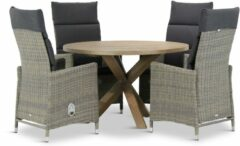 Taupe Garden Collections Garden Collection Madera/Sand City rond 120 cm dining tuinset 5-delig