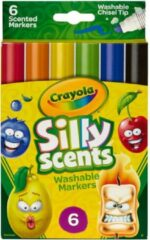 Crayola - Afwasbare markers - Silly Scents - Fruit - 6 stuks