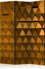Kamerscherm - Scheidingswand - Vouwscherm - Golden Armour [Room Dividers] 135x172 - Artgeist Vouwscherm