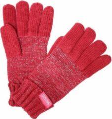 Roze Luminosity reflecterende, gebreide handschoenen van Regatta voor kinderen, Wintersporthandschoenen, donker kersenpaars