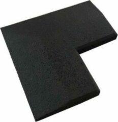 Zwarte NRG Fitness Vloer Hoekprofiel 20mm Rubber