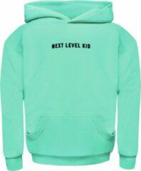 Seabass Swimwear - relaxed fit hoodie - kind - unisex - duurzaam - 100% organic cotton - velvet logo - kangoeroe zak - verkrijgbaar in maat 2 t/m 14 jaar - kleur: Neo Mint - Unisex Hoodie Maat 164
