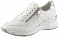 Zilveren Rieker sneakers met sleehak