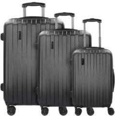Lima 2.0 FL 4-Rollen Kofferset 3tlg mit Doppelrollen Bugatti schwarz