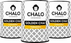 CHALO Vegan Golden Chai - Indian Chai Latte - Kurkuma - Zwarte Assam thee - CHALO Vegan Golden Chai - Indian Chai Latte - Kurkuma - Zwarte Assam thee - 25 porties/ 300GR - 3* 300GR