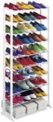 Witte Innovagoods Schoenenrek - Voor 30 paar schoenen - ABS - Staal