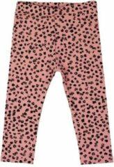 R Rebels | Katoenen baby legging | Roze Panterprint | Maat 80