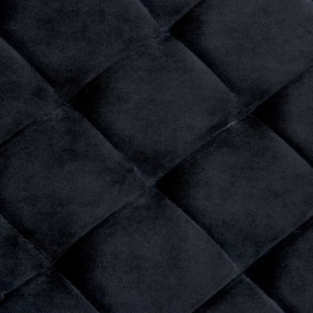 Afbeelding van VidaXL Bankje 97 cm fluweel en roestvrij staal zwart