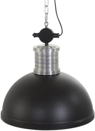 Afbeelding van Zwarte Industriele hanglamp Steinhauer Brooklyn Solo zwart ø50 cm
