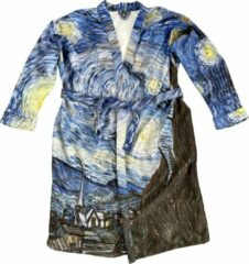 Art badjassen Badjas met Sterrennacht opdruk – Unisex – Bathrobe – Maat S
