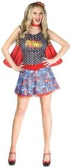 Luchas Promotions Roy Liechtenstein Strip Superheldin | Vrouw | Small / Medium | Carnaval kostuum | Verkleedkleding