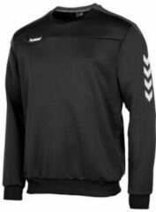 Antraciet-grijze Hummel Valencia Top Round Neck Sporttrui Heren - Black/Anthracite
