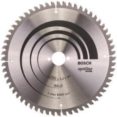 Bosch Professional accessoire Bosch Cirkelzaagblad Optiline Wood 250 x 30 x 3,2 mm - 60 tanden