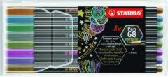 STABILO Pen 68 Metallic Etui, 8st. Afmeting artikel: lengte 16,5 cm, Lijndikte 1.4 mm