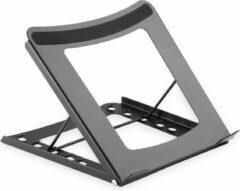 Zwarte Assmann Digitus mobiele Notebook stand. 5 instelposities staal