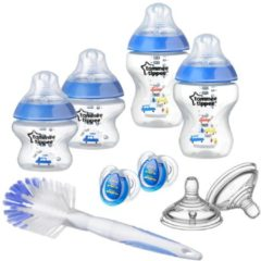 Blauwe Tommee Tippee - Closer to Nature flessen starterset boy - blauw