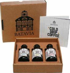 Batavia Cold Drip Coffee geschenkverpakking - 3 x 125ml - single origin cold drip coffees in geschenkverpakking - het meer smaakvolle alternatief voor cold brew koffie