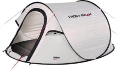 High Peak Pop Up Tent Vision 2 235 X 140 X 100 Cm - Wit - 2 Persoons