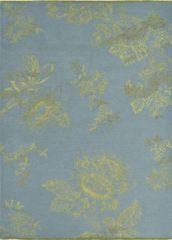 Wedgwood - Tonquin Blue 37008 Vloerkleed - 200x280 cm - Rechthoekig - Laagpolig Tapijt - Klassiek - Blauw, Goud