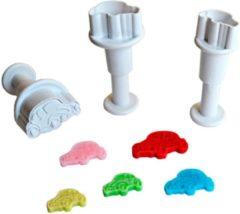 Witte Dekofee Mini Plunger Uitstekers Cars set/3