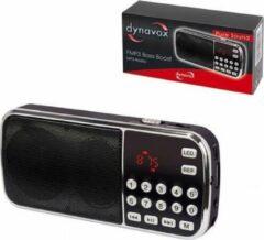 Zwarte Dynavox FMP3 mini radio met USB en SD ingang voor MP3
