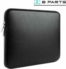 BParts - 13 inch Kunstleren Laptop sleeve - Beschermhoes laptop - Laptophoes - Extra zachte binnenkant - Zwart