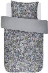 Essenza Maili dekbedovertrek - 100% katoen-satijn - 1-persoons (140x200/220 cm + 1 sloop) - 1 stuk (60x70 cm) - Grijs