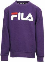 Paarse Sweater Fila Classic Logo Crew Kids