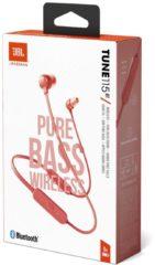 JBL Tune 115BT Bluetooth In Ear oordopjes Koraal