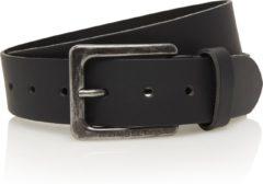 Timbelt 4cm zwarte riem - jeans riem - zwart - 100% leder - Maat 105 - Totale lengte riem 120 cm