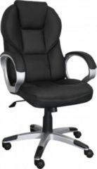 Amstyle AMSTYLE Bürostuhl Matera Bezug Kunstleder Schwarz Schreibtischstuhl Design Chefsessel Drehstuhl mit X-XL Polsterung