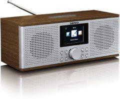 Lenco DIR-170 Tafelradio met internetradio DAB+, FM AUX, Bluetooth, USB, Internetradio Walnoot
