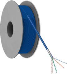 Netwerkkabel CAT 5e F/UTP Goobay 93265 4 x 2 x 0.12 mm² Blauw 100 m