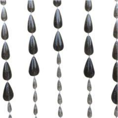 Lesliliving Lesli Vliegengordijn druppel kralen zwart 90x200cm