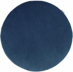 Nolon universeel zitkussen - Rond - Velvet - Donkerblauw