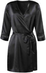 Seiden-Kimono Calida black