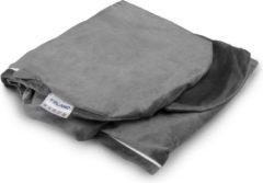 Telano® Velvet Zwangerschapskussen Hoes XXL Grijs 145 x 80cm|High Quality Zachte Velvet|Voedingskussen Hoes