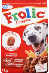 Frolic - hond - adult - droogvoer - rund - 3 x 4kg