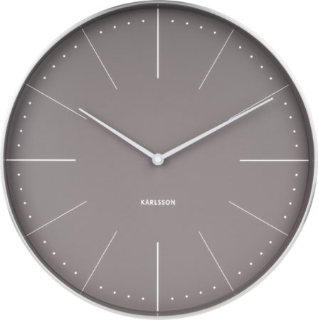 Afbeelding van Grijze Karlsson Wall clock Normann station warm grey, brushed case