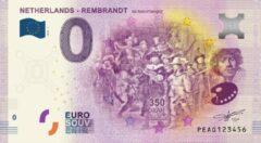 Paarse 0 Euro Biljet 2019 - Rembrandt - De Nachtwacht