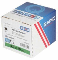Zilveren FEKO Vlonderschroef TX25 RVS 5x50mm (doos 100stuks) - RVS - Schroeven - Schroef
