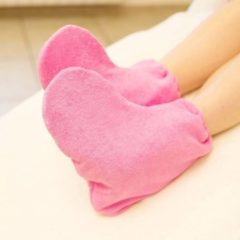 Mega Beauty Shop® Badstof sokken Schoonheidsspecialiste Donker roze - badstof