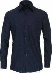 Marineblauwe Casa Moda Overhemd Donker Navy Comfort Fit Kent Non Iron - 47