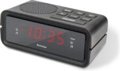 Zwarte Technisat Digiclock 2 wekkerradio - FM - 20 voorkeurzenders - twee alarmen