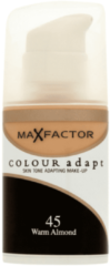 Huidskleurige Korres Max Factor Colour Adapt Foundation 45 Warm Almond